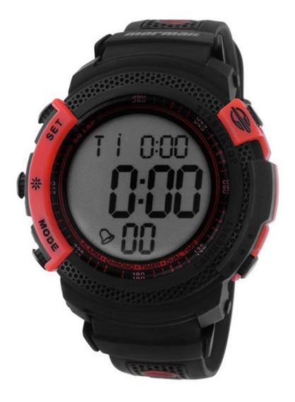 Relógio Masculino Digital Preto E Vermelho Mormaii D92i78/8r