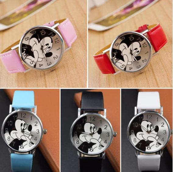 Relógio Feminino Analógico Mickey Moda Luxo Top Frete Grátis