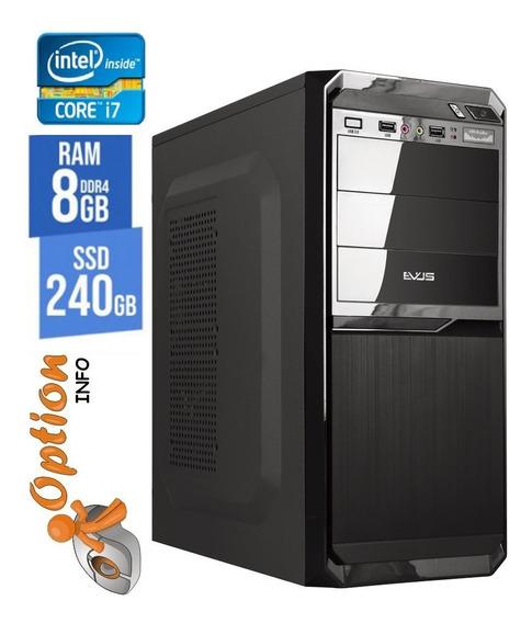 Pc Intel Core I7 08gb Com Ssd 240gb - Novo - Garantia - Nota