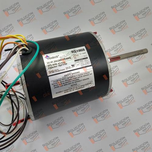 Motor Ventilador Rostock 3/4 Hp Para Condensadoras Rs -1868