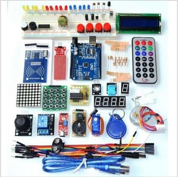 Kit Starter Para Arduino Rfid R3 Learn Suite Com Case 60item
