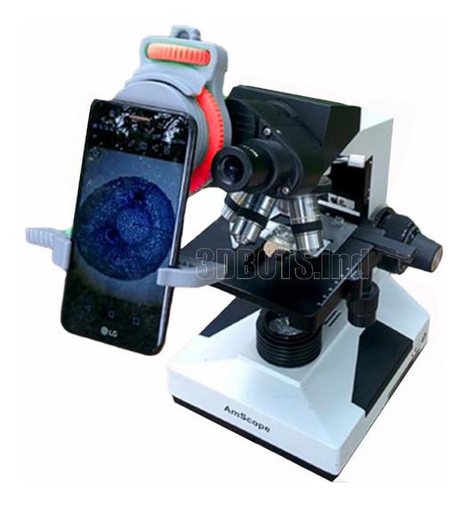 Suporte Para Celular Adaptável Em Microscópio