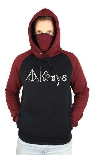 Moletom Casaco Blusa Harry Potter Always Hogwart Voldemort