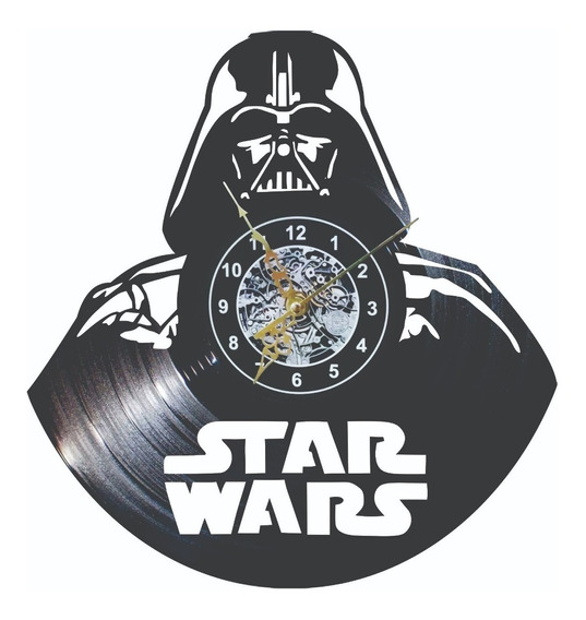 Reloj De Pared Hombre Darth Vader Star Wars Vinil