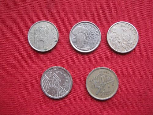 Imagen 1 de 2 de España 5 Pesetas Diferentes Valor Unidad