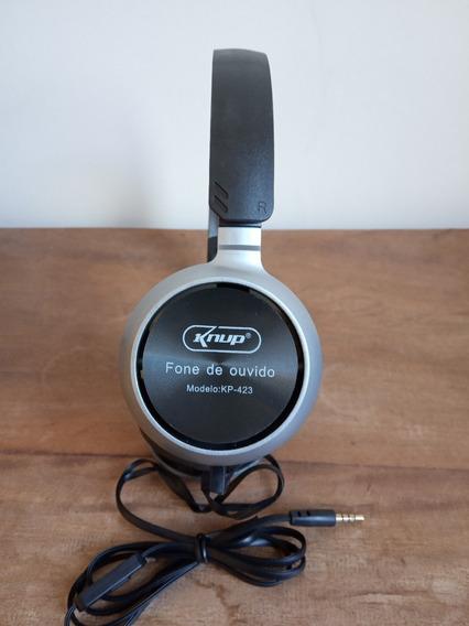 Fone De Ouvido Com Microfone Knup Kp-423