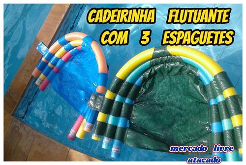 Cadeirinha Boia Flutuante C/3 Espaguetes P/piscina Mar Rio