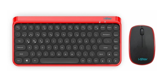 I-star Wireless Desktop Keyboard And Mouse Combo With Roun
