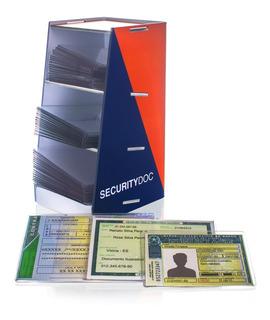 Kit Proteção Em Acrílico P/ Documentos - 300 Peças + Brinde