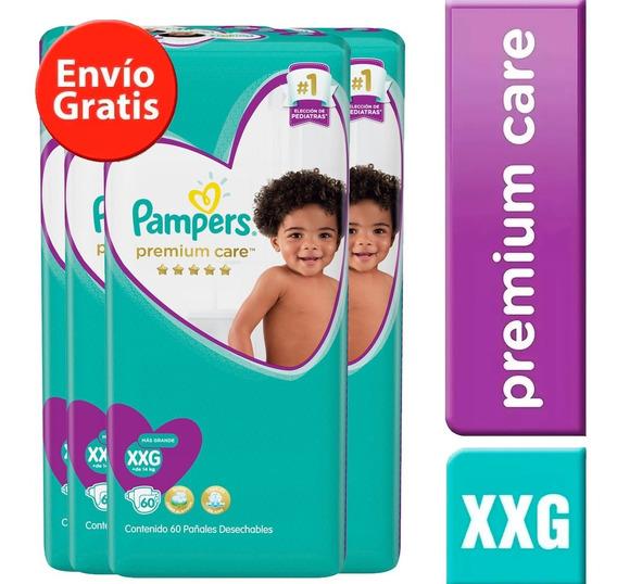 4 Paquetes Pañales Pampers Premium Care 272u. Talla Xxg