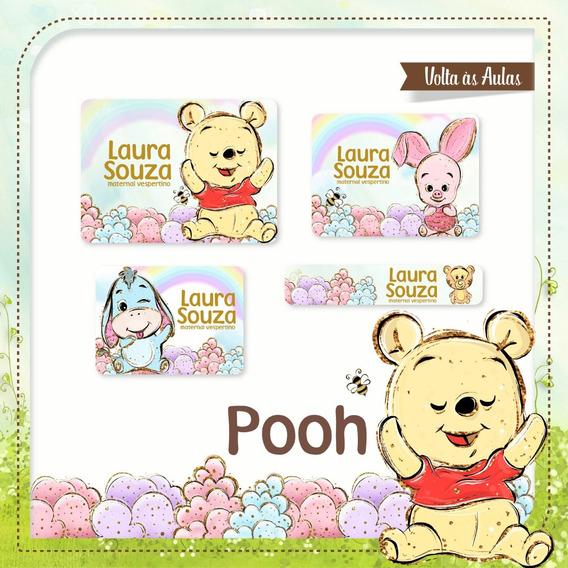 25 Etiquetas Escolares Pooh