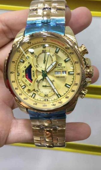 Relógio Hx016b Casio Edifice Ef558b Golden Premium