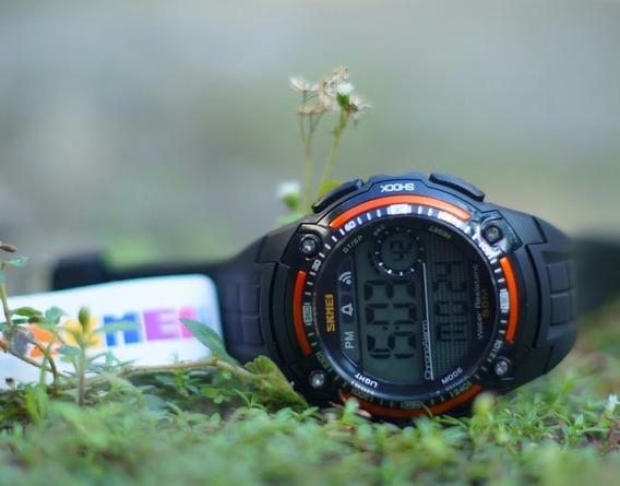 Relógio Skmei 1203 Black/orange Original - Queima Estoque