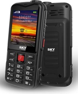 Kit Com 4 Celulares Sky Tank Dual Sim Gsm 5000mah