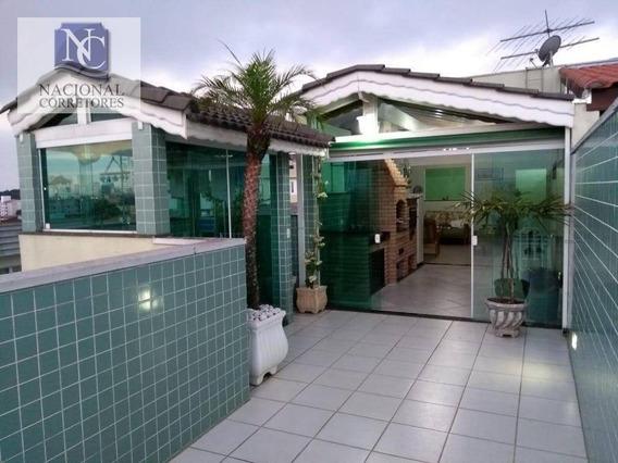 Cobertura À Venda, 200 M² Por R$ 650.000,00 - Santa Maria - Santo André/sp - Co4200