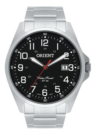 Relógio Orient Masculino Prata E Preto Mbss1171 P2sx + Nota