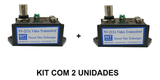 Transmissor Receptor Video Canal Unico Nvt Nv-213a Kit 2 Uni