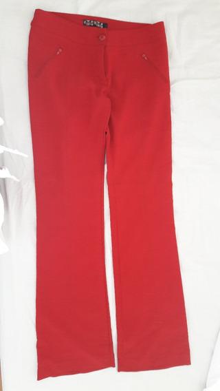 Pantalon Materia Ts Color Rojo Tela Elastizada, Preciosoo!!!