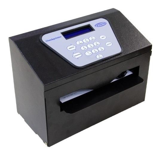 Impressora De Cheques Checkprinter Datacheck Preta Menno + Nf