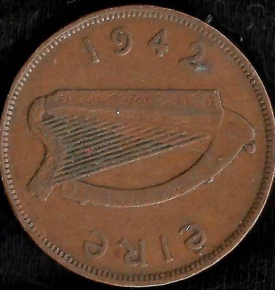 Irlanda 1942 1 Penny Pingin Gallina Y Polluelos L6319