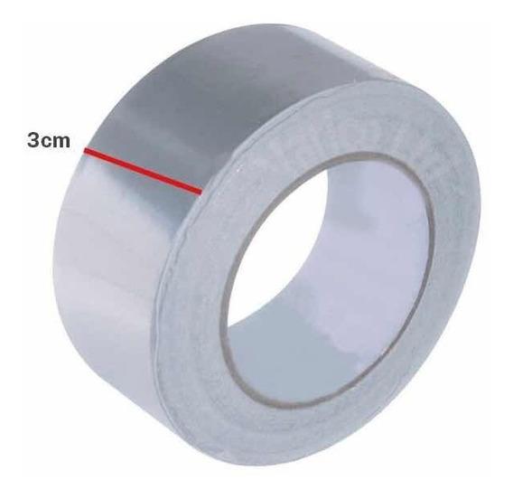 Fita Térmica Cromada 3,5cm Alumínio