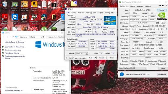 Computador I7 3770 Com 8gb De Memória Ram E Gforce 630 4gb.