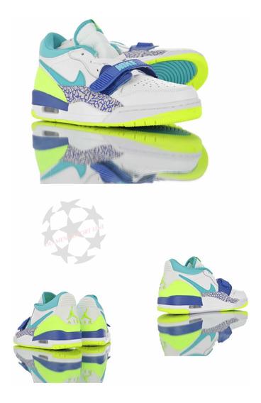 Just Don X Jordan Legacy 312 Low neon Aquamarine