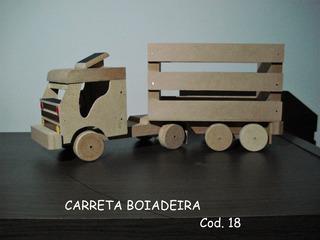 Carrinho Artesanal De Madeira Cod. 18 - Carreta Boiadeira