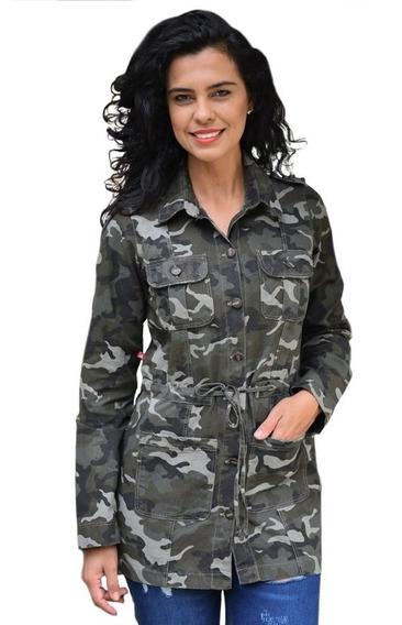 Max Jaqueta Camuflada Plus Size Parca Militar Acinturada!