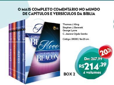 O Novo Comentáriobíblicobeacon- Box 2 Frete Gratis