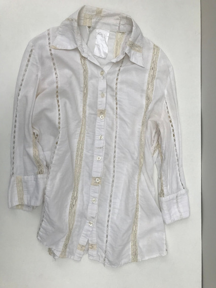 Camisa De Mujer Sweet Talle 42 Color Crema
