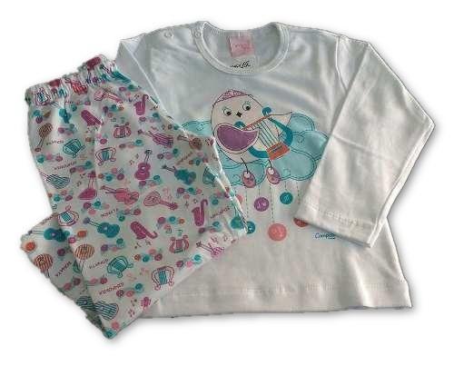 Pijama Infantil 12-18 M Algodão Outono-inverno Com Garantia
