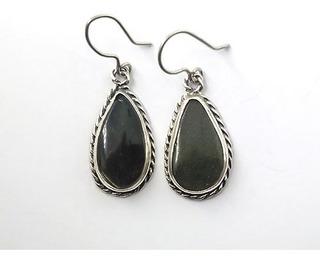 Brinco Obsidiana Ouro - Id 3310