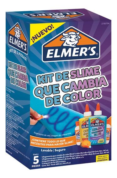 Kit De Slime Que Cambia De Color Elmers 5 Piezas