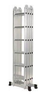 Escalera Multifuncion Aluminio Pleglable 6,70m Kulbart Wc406