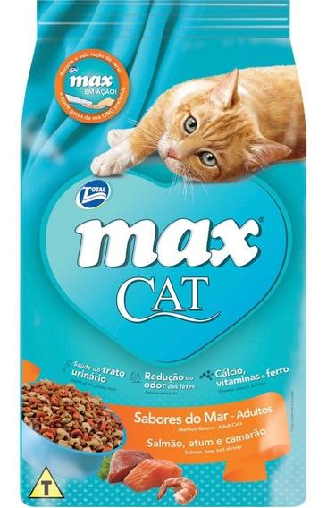 Ração Max Cat Sabores Do Mar Para Gatos Adultos 20kg