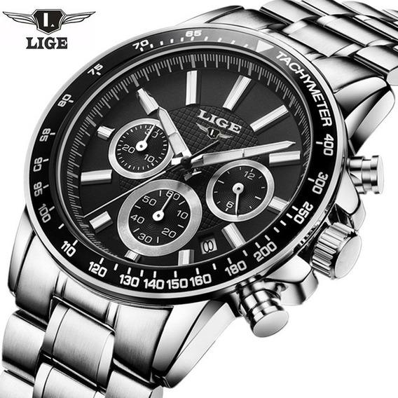 Relógio Masculino Lige Original 30 Metros Modelo 0222