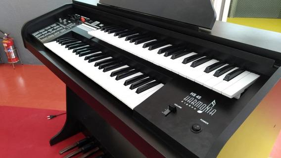 Órgão Eletrônico Hs45 Da Harmonia Melhor Q Gambitt Ou Minami