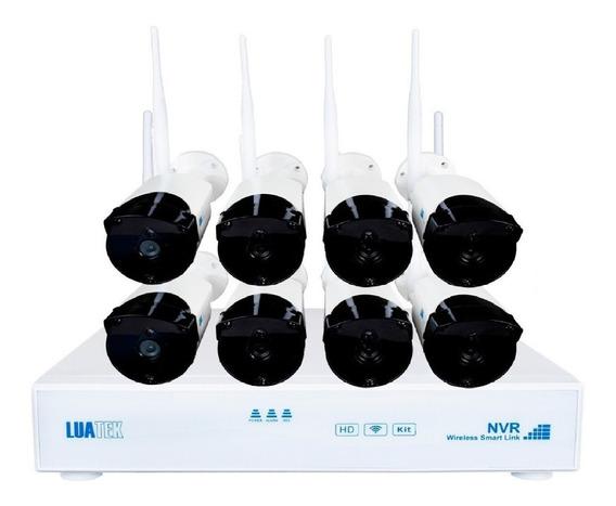 Jogo 8 Câmeras Segurança Nvr Ip Externa Wireless C/gravador
