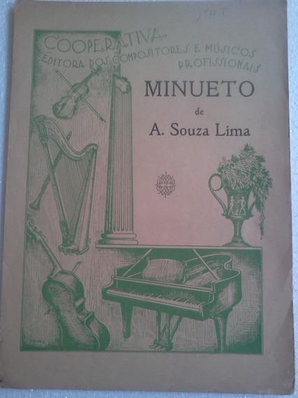 Partitura Minueto De A Souza Lima Editora Cooperativa