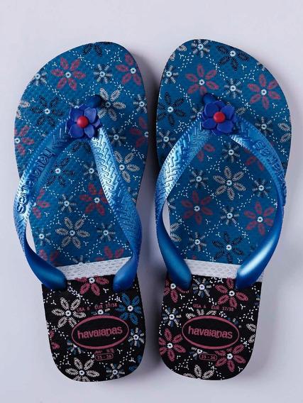 Chinelo Feminino Havaianas Preto/azul