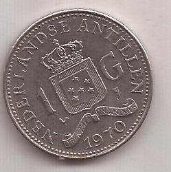 Antillas Holandesas 1 Gulden Año 1970