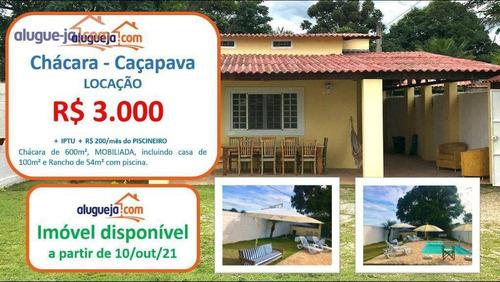 Imagem 1 de 22 de Chácara Com 3 Dormitórios Para Alugar, 600 M² Por R$ 3.000,00/mês - Vila Galvão - Caçapava/sp - Ch0220