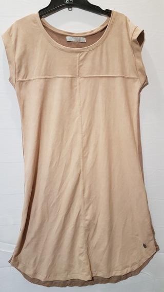 Vestido Camel Gamuzado Muaa M