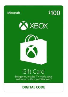Tarjeta De Regalo $100 Pesos Xbox One