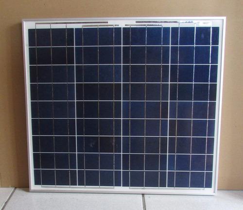 Painel Placa Solar Fotovoltaica 50w + Controlador + Cabos