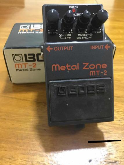 Boss Metal Zone Mt2 Usado E Frete Grátis