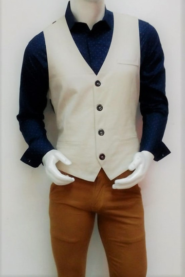 Elegante Saco De Caballero Color Beige Para Toda Ocasión