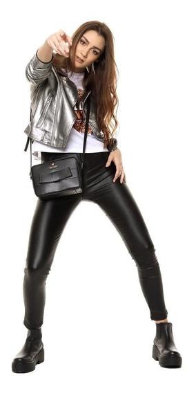 Pantalon Chupin Dama Engomado Eco Cuero Calce Perfecto Top