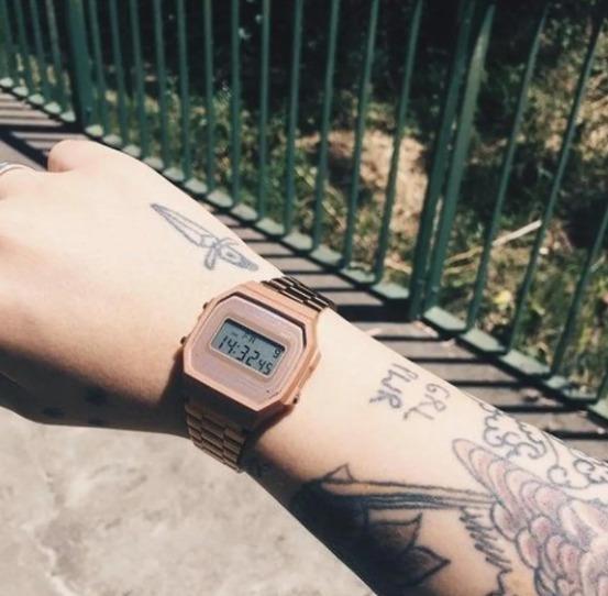 Relógio Cassio A168 Rose Fosco Aço Inoxidável Feminino Novo
